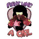 Fight Like A Girl (Crystal Gem) by Seignemartin