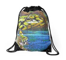 Australian Corroboree Frog in Pastel  Drawstring Bag