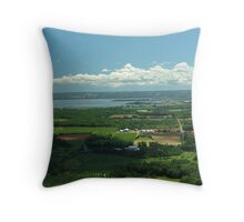 How Green Is The Valley Throw Pillow