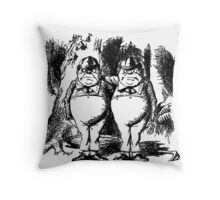 Tweedledum & Tweedledee Throw Pillow