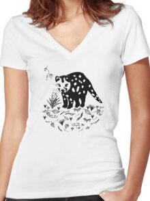 Spotted Tail Quoll- Dasyurus maculatus Women's Fitted V-Neck T-Shirt