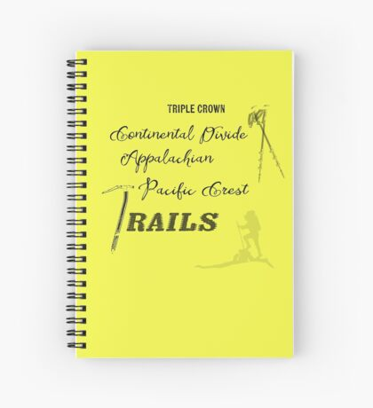 Triple Crown Of Hiking Spiral Notebook