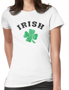 Irish Shamrock Womens Fitted T-Shirt