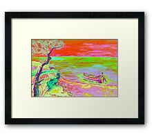 Cliff view. Framed Print