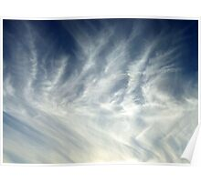Feathery Clouds Poster