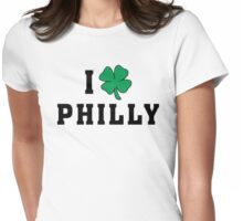 I Love (Shamrock) Philly Womens Fitted T-Shirt