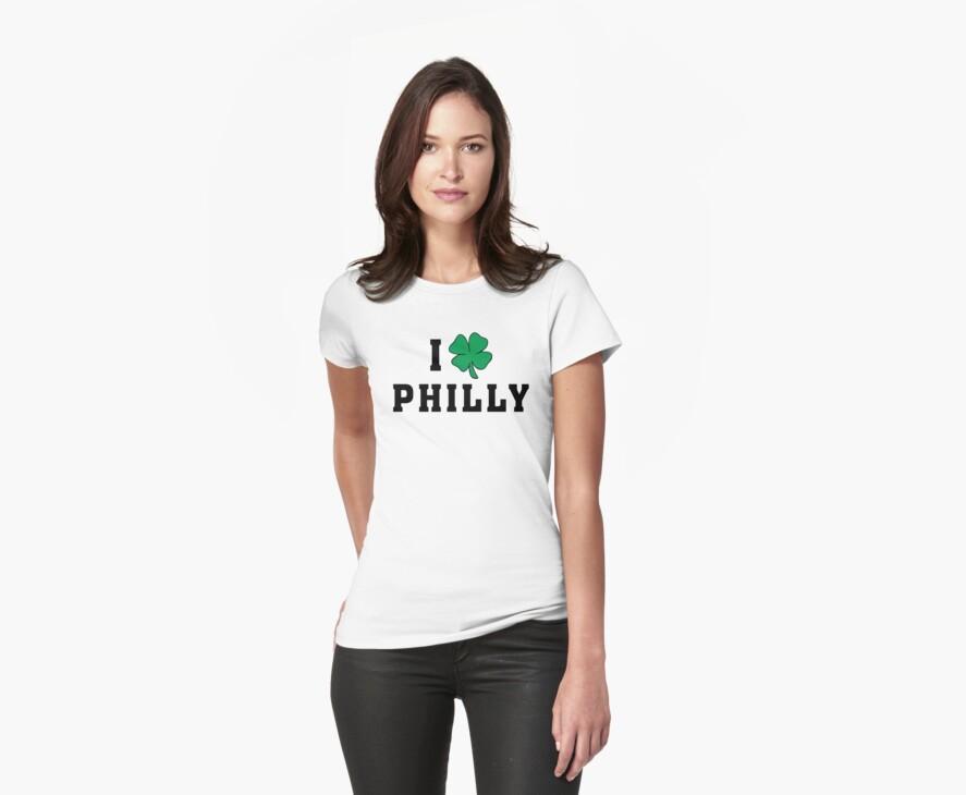 I Love (Shamrock) Philly by HolidayT-Shirts