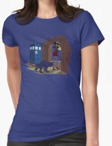 Elisa and the TARDIS Womens Fitted T-Shirt