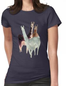 The Llama Posse Womens Fitted T-Shirt
