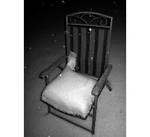 Jack Frost's Lawn Chair Photographic Print