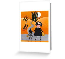 The Trick or Treaters Greeting Card