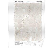 USGS Topo Map Idaho Old Timer Mountain 20110627 TM Poster