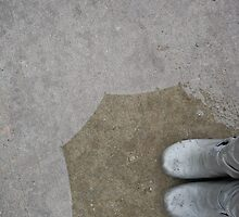 Gray Boots in a Spring Rain by LauraMargaret