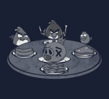 Angry Buffet- Angry Birds Parody Shirt by spacemonkeydr