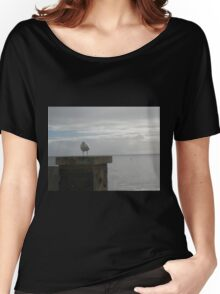 Gull at Busselton Pier Women's Relaxed Fit T-Shirt