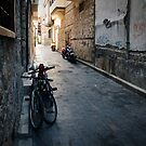 Bikes On Dark Street: Antalya, Turkey by Josh Wentz