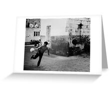 Soccer In The Street Greeting Card