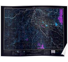 USGS Topo Map Idaho Boise 239605 1962 250000 Inverted Poster