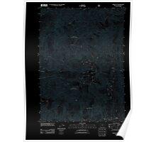 USGS Topo Map Oregon York Butte 20110713 TM Inverted Poster