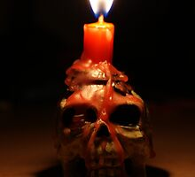 Vanitas skull and flame by WET-photo