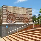 Ox wagon statue at Voortrekker monument. by Rudi Venter