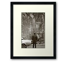 2010.something to forget Framed Print