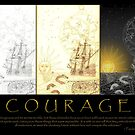 courage (tri-panel) by michael christopher jansen