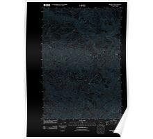 USGS Topo Map Oregon Rogers Peak 20110907 TM Inverted Poster