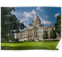 City - Providence, RI - The capitol  Poster