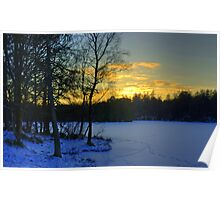 Winter Sunset At High Dam Poster