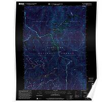 USGS Topo Map Oregon Big Craggies 279016 1998 24000 Inverted Poster