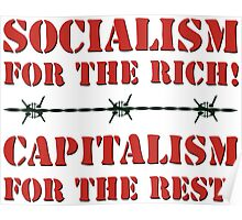 Capitalism & Socialism concept Poster