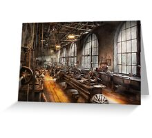 Machinst - A room full of Lathes  Greeting Card