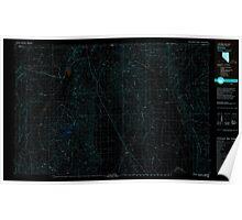 USGS Topo Map Nevada Denio 321488 1979 100000 Inverted Poster