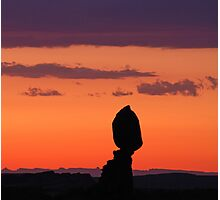 Balanced Rock at Sunset Photographic Print