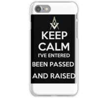 Masonic Keep Calm iPhone Case/Skin
