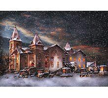 Winter - Clinton, NJ - Silent Night  Photographic Print