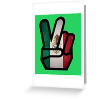 finger mexico Greeting Card