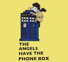 Castiel Has The Phone Box Kids Tee