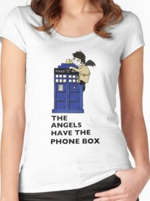 Castiel Has The Phone Box Women's Fitted Scoop T-Shirt