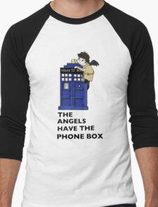 Castiel Has The Phone Box Men's Baseball ¾ T-Shirt