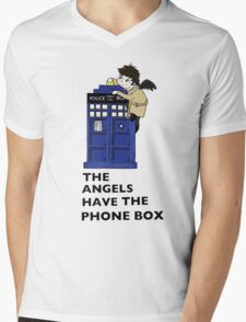 Castiel Has The Phone Box Mens V-Neck T-Shirt