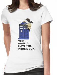 Castiel Has The Phone Box Womens Fitted T-Shirt
