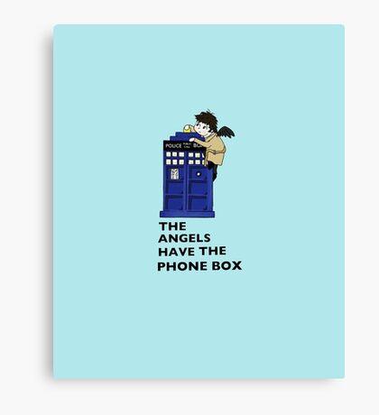 Castiel Has The Phone Box Canvas Print