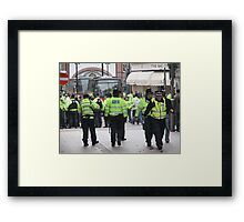 English Defence League Demo, Leicester Framed Print