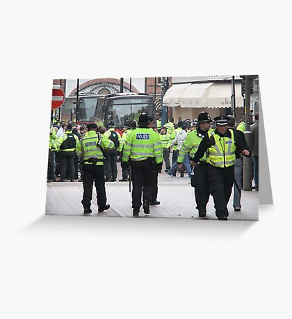 English Defence League Demo, Leicester Greeting Card