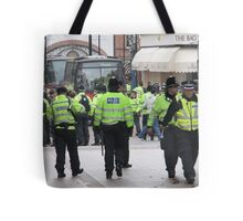 English Defence League Demo, Leicester Tote Bag