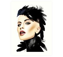 Lady Crow Art Print