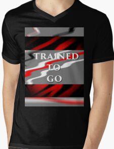 Trained Mens V-Neck T-Shirt