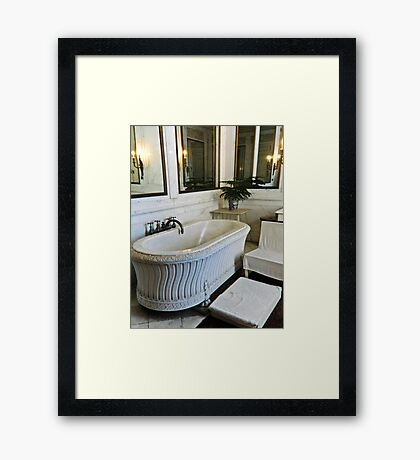 Saltwater Bath Framed Print